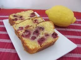 Dessert: Cake au citron et aux framboises
