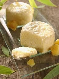 Dessert: Mousse de mangue et gingembre confit