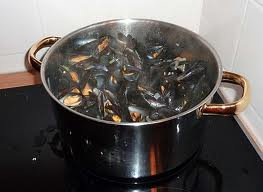 Fruits de mer: Moules au cidre