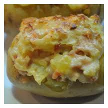 Accompagnement: Pommes de terre farcies au saumon