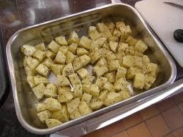 Féculent: Pommes de terre rôties au thym