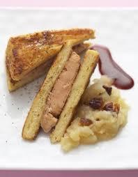 Entrée: Pain perdu au foie gras