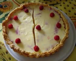 Dessert: Flan pâtissier citron et framboises