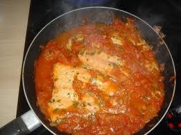 Poisson: Saumon à la tomate