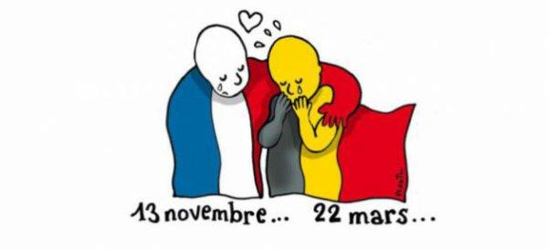 22 mars 2016 la  Belgique  sur le  choque