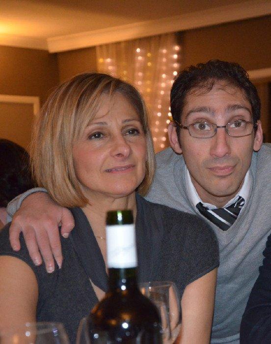 sur la photo sé moi jacky avec ma copine maria a la soirée