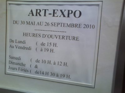 horaire art expo