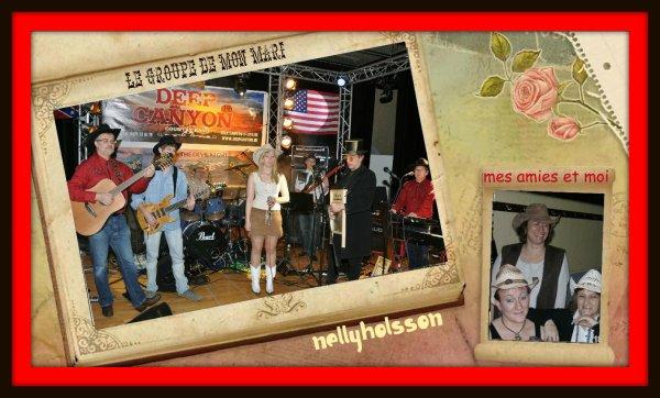 voici le groupe de mon mari,mes amies et moi a la soirée du 18/02/2012
