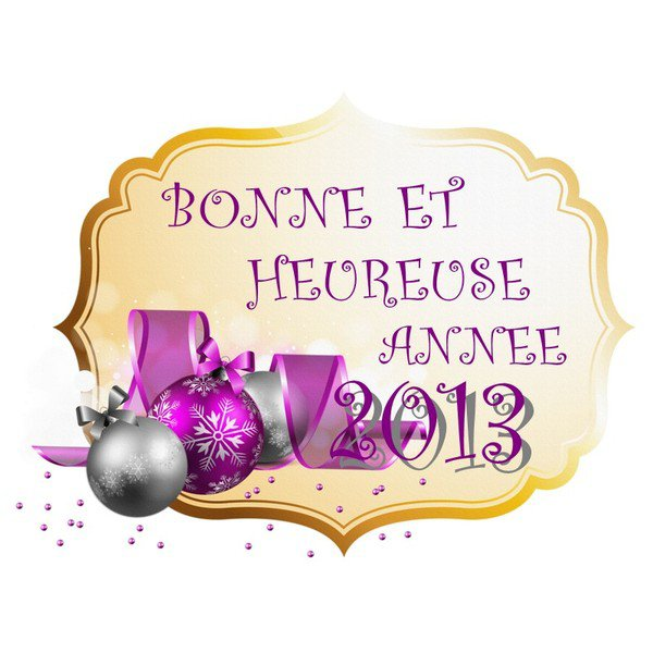 bonne année 2013 a vous tous mes amies et amis,énormes bisous de votre amie Christine