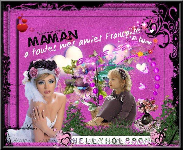 je vous souhaite un agréable dimanche a tous,je souhaite une bonne fête des mamans a mes amies Française ainsi que celles du mon de entier