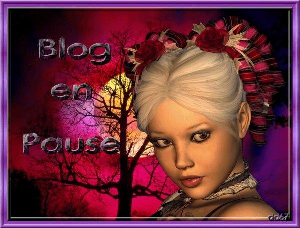 je met mon blog en pause jusque lundi ,si tout va bien je serais de retour,vous me manqués énormément gros bisous a tous