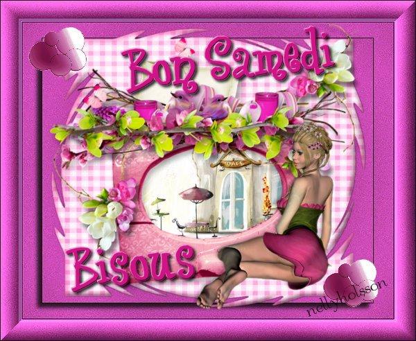 je vous souhaite un très bon samedi mes amies et amis...bisous