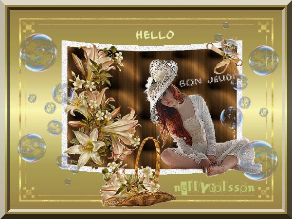bonjour mes amies et amis, je vous souhaite un très bon jeudi a tous...bisous