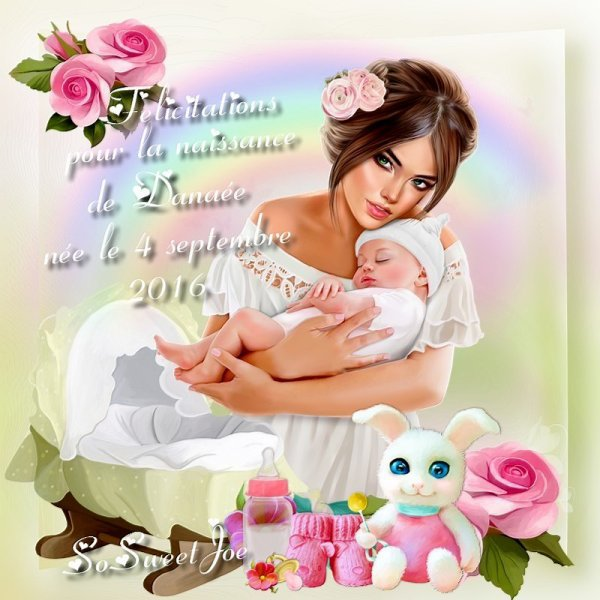 merci mon amie So Sweet Joe pour cette magnifique créa pour la naissance de notre petite fille Danaée gros bisouss