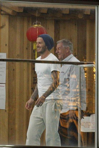 David Beckham à l'entrainement de karaté de son fils ROMEO