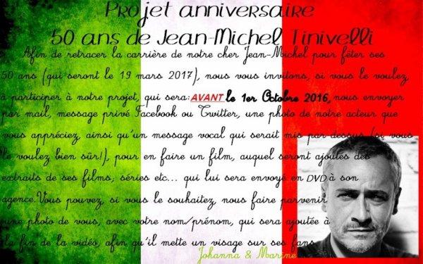 Projet anniversaire Jean-Michel Tinivelli