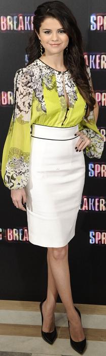 "Selena Gomez promouvoie le film "" Spring Breaks "" à Madrid"