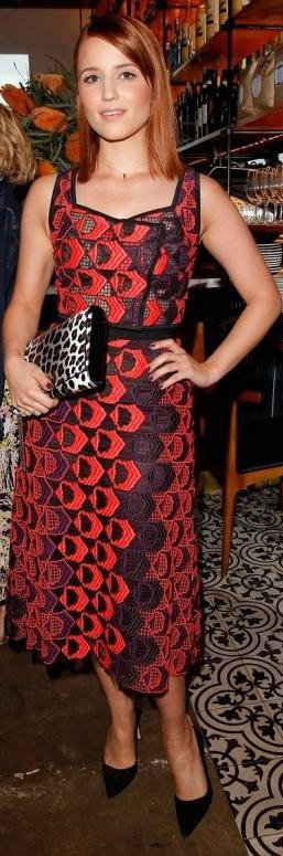 Dianna Agron au Vogue's Triple Threat Dinner en Derek Lam