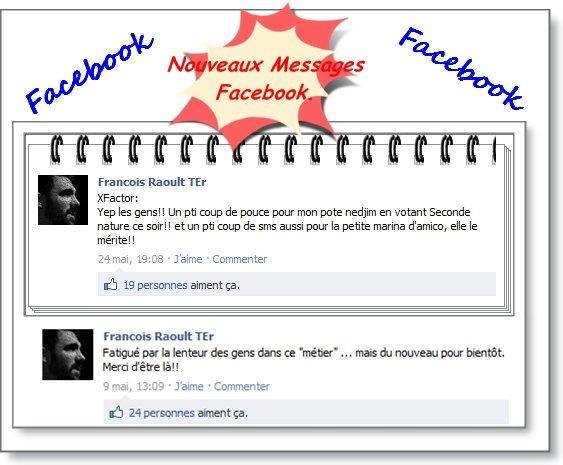 Les nouveaux messages Facebook de Francois!