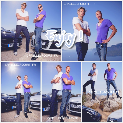*Nouvelles Photos du Shoot de Camille & Fred pour AUTOMOTO + Les Nageurs du CNM au Vélodrome . *