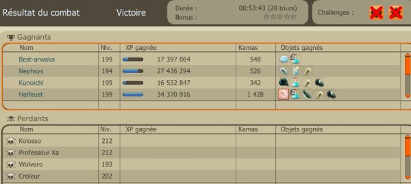 Ups/Kolossos/Week-End double XP