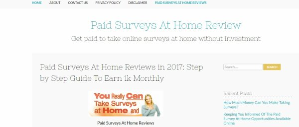 Paid Online Surveys At Home Reviews in UK