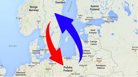 Transport Sverige Polen