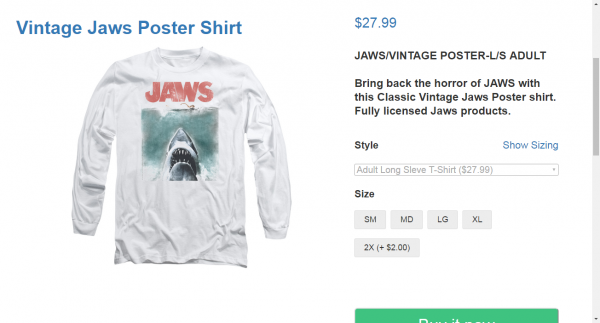 Vintage Jaws T shirts