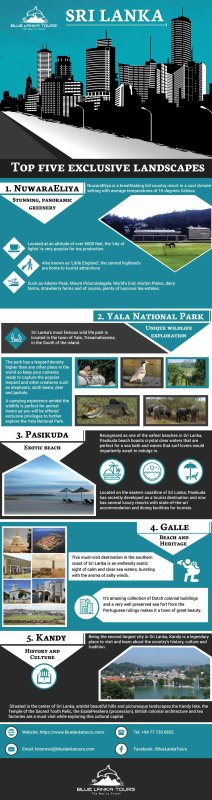 Top five exclusive landscapes in Sri Lanka