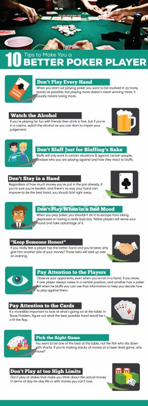 10 Tips to Make You a Better Poker Player
