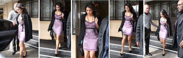 Vanessa quittant son hotel a Londres -  TOP !