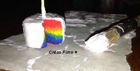 Work in progress #1 : Rainbow cake ♥.