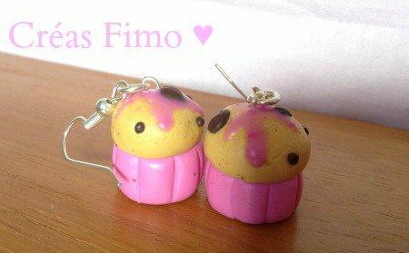 #28 Boucle d'oreilles muffins ♥.
