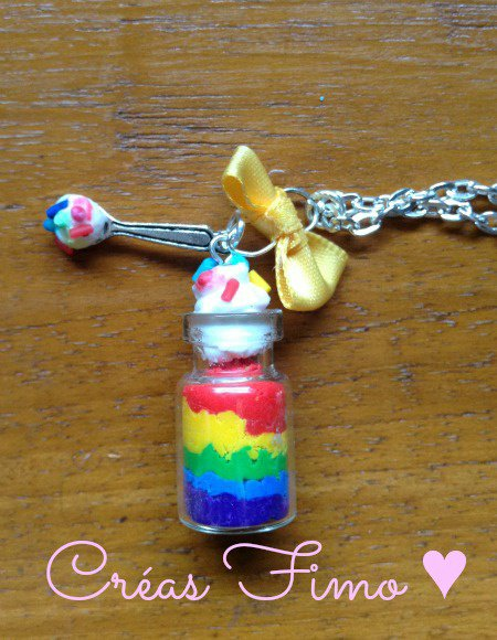 #55 Fiole mousse rainbow. ♥
