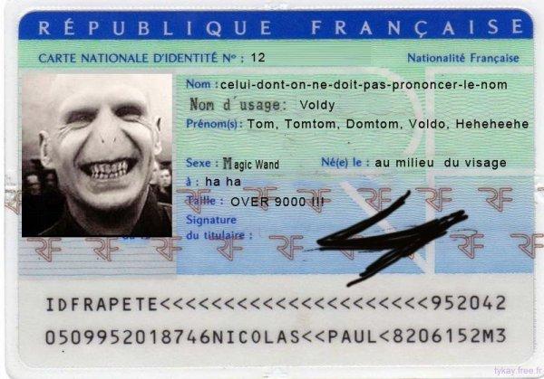 La carte d'identité de Voldy !!!