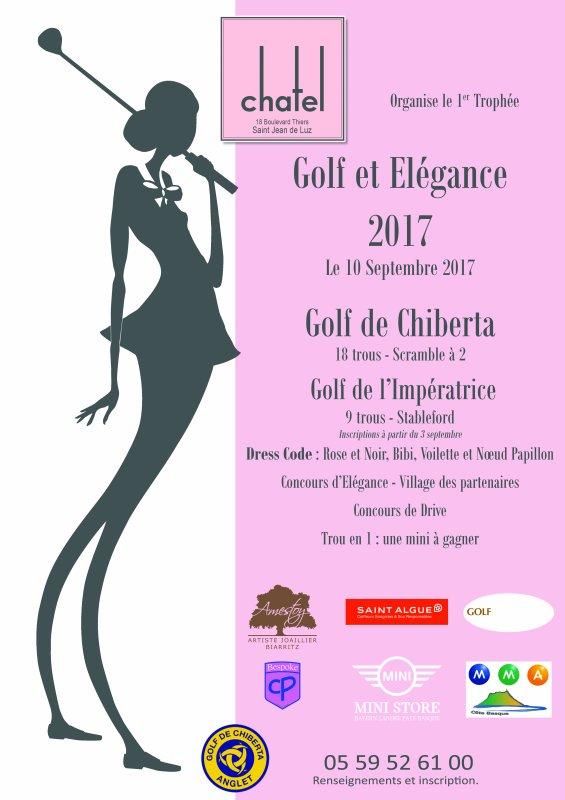1° Trophée de l'Elégance au Golf de Chiberta le 1O Septembre 2017