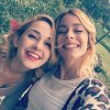 Tini et Mechi lors du tournage Violetta 3 <3