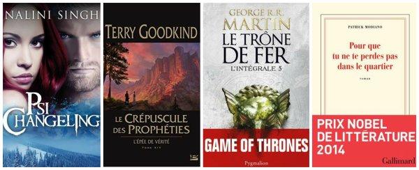 Prochaines sorties littéraires - Octobre/Novembre 2014