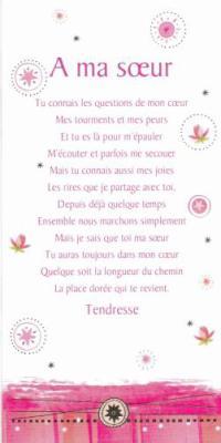 Poeme Pour Ma Soeur Mon Univers