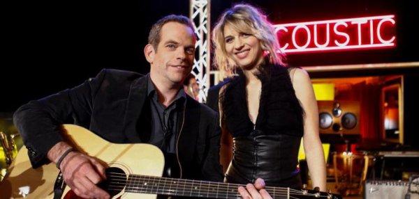 Garou et Amandrine pour l'émission acoustic sur Tv5Monde