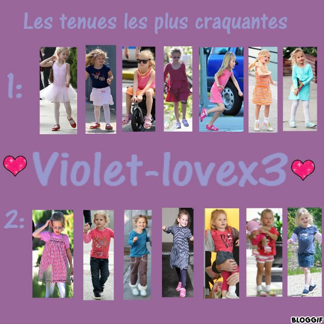 Les tenues les plus craquantes de Violet....