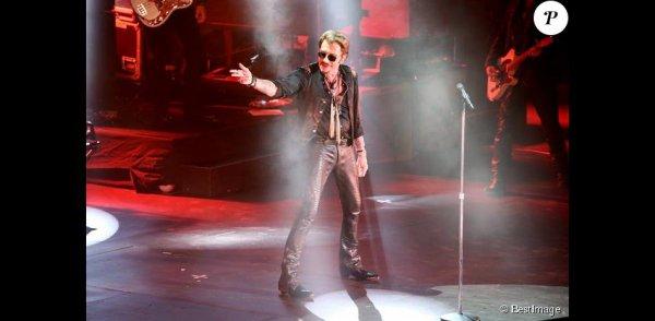 Johnny Hallyday en concert aux Francofolies à La Rochelle le 14 juillet 2015.