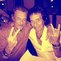 Johnny hallyday et Robin Le mesurier