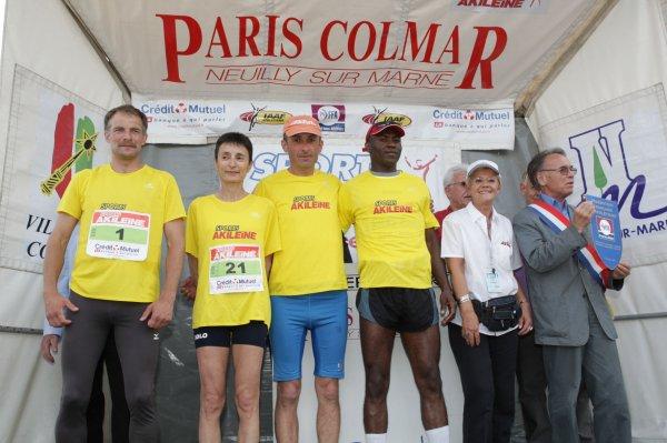 LES  4 VAINQUEURS DU PROLOGUE   de PARIS Neuilly surMarne COLMAR 2009