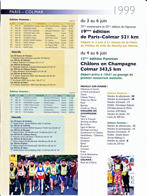 PARIS-COLMAR 1999