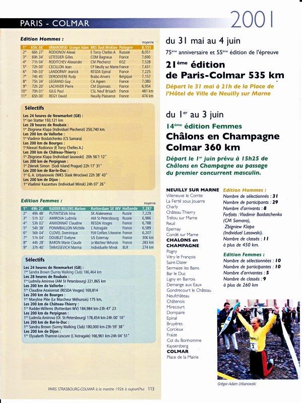PARIS -COLMAR 2001
