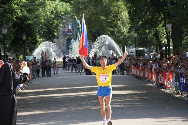 Dimitri Ossipov ,vainqueur de  Paris-Colmar 2011