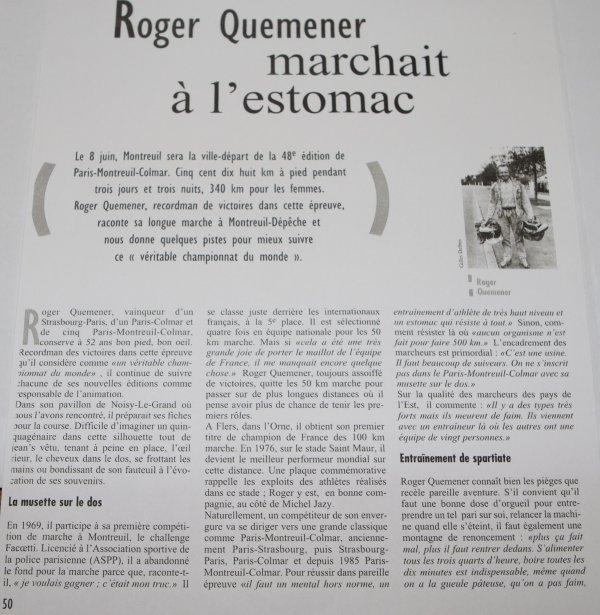 Roger QUEMENER marchait à l'estomac