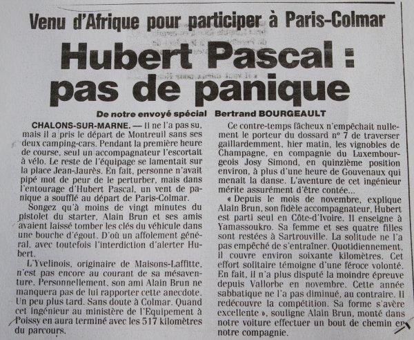 Hubert Pascal: pas de panique