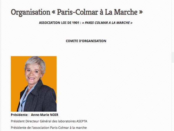 Madame NOIR Présidente de l'association Paris-Colmar à la marche